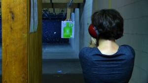 Amy at the gun range